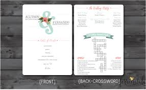 mint and pink wedding program floral fan wedding program with