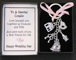 wedding gift message wedding day gift keyring keepsake for and groom boxed with