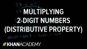 multiplying 2 digits numbers using distributive property 4th