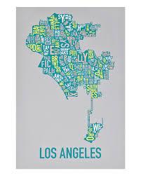 Map Of Portland Oregon Neighborhoods by Los Angeles Neighborhood Type Map Posters U0026 Prints