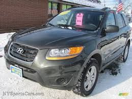 hyundai santa fe se wd in black forest green metallic on hyundai
