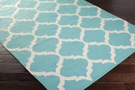Area Rug White Artistic Weavers Vogue Everly Awlt3003 Teal White Area Rug