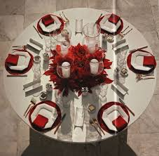 christmas decor for round tables dining room modern design christmas table setting ideas charming