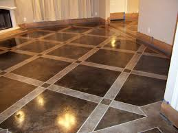 glamorous stained concrete basement floor ideas photo decoration