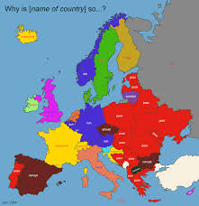 Europe Map With Country Names by I Love Charts