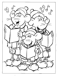 singing christmas songs coloring page u003e u003e disney coloring pages