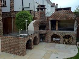 outdoor brick fireplace bbq grill plans exterior exciting round