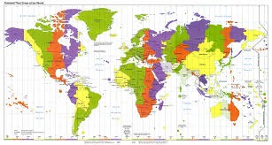 North America World Map by Standard Time Zones Of The World Cartography Pinterest Time