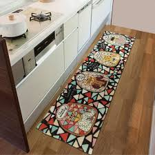 Jacquard Kitchen Rugs Kitchen Rugs Rugsers Kitchen Rug Niceer And Gray