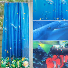 Shower Curtains With Fish Theme Aliexpress Com Buy 180 180cm Tropical Beach Dolphin Sea Fish