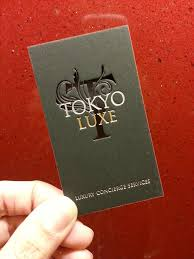 tokyo luxe business cards studio z mendocino