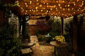 Lights For Backyard by Patio Light Ideas Fairy Lights Hanging Over A Garden In Inspiration