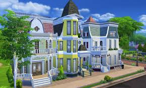 House Lots Mod The Sims Victorian Avenue 4 Unique Villas In One Lot