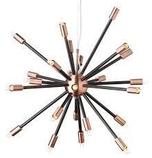 black and copper pendant light nuevo living sergei sputnik pendant l in black and copper at