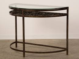 a demilune half moon iron console table created in france to