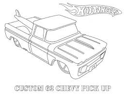 wheels custom 62 chevy pick up coloring page netart