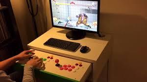 Video Gaming Desk by Ikea Micke Desk Fightstick Hack Youtube