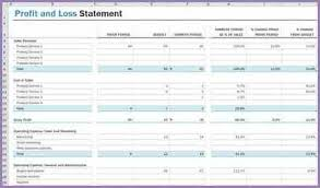 Excel Profit And Loss Template Profit And Loss Statement Excel Slenotary