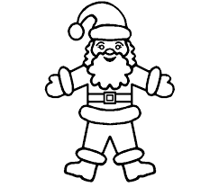 free printable santa christmas coloring pages color me goods