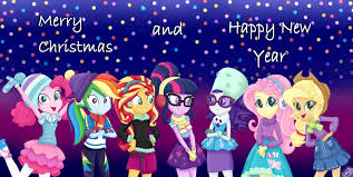 mlp merry and happy new year by liniitadash23 on deviantart