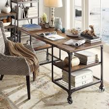 Modern Rustic Desk Nelson Industrial Modern Rustic Storage Desk By Inspire Q Classic