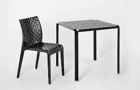 Patio Furniture Chairs Minimalism Meets Garden Ami Ami Woven Patio Table Chair By