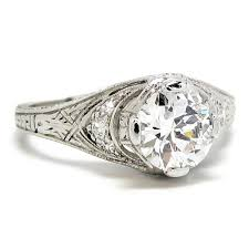 1920s engagement rings 1920 s platinum diamond ring 0 92ct e si1