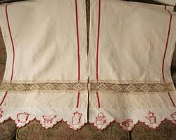 French Style Kitchen Curtains by Edwardian Curtains Etsy
