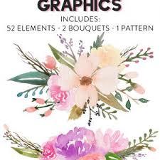 free flowers free watercolor flower graphics from fox hazel