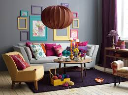 livingroom accessories decorating yellow pink blue yellow orange pink blue and