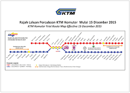 Map My Route by Ktm Komuter Trial Route Map Effective 15 December 2015 Kl