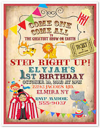 clown show for birthday party 10 circus carnival clown birthday party invitations custom printed