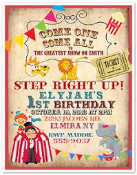 10 circus carnival clown birthday party invitations custom printed
