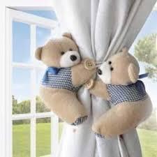raffhalter kinderzimmer s hub raffhalter mit süßen teddybären für vorhänge im