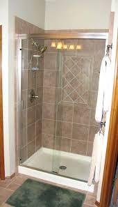 Stall Shower Door Fiberglass Shower Pan For Tile Prefab Stalls Home Shower Design