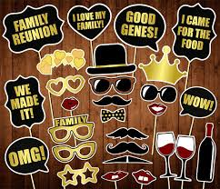 family reunion photo booth props printable pdf family