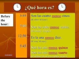 21 01 20101 qué hora es capítulo 3 u2013 primer paso telling time
