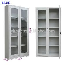 stainless steel filing cabinet best selling stainless steel two glass display sliding door steel