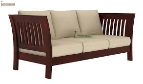 raiden wooden sofa set mahogany finish