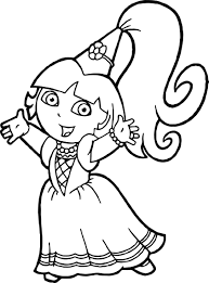 dora image coloring page wecoloringpage