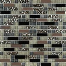 metal and glass tile backsplash cheap kitchen crystal mosaic wall