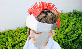 easy craft how to make a gladiator helmet youtube