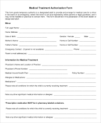 authorization letter for grandparent printable medical authorization form 9 free word pdf documents