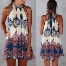 boho women sleeveless party evening cocktail summer beach