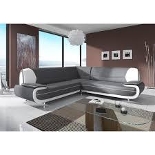 canapé d angle tissu design canapé d angle design gris et blanc muza achat vente canapé