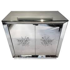 Mirrored Bar Cabinet Deco All Mirrored Bar Cabinet Revolving Door For Sale