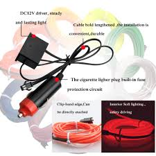 Led Strip Lights For Cars How To Install by Aliexpress Com Buy Autoec1x1m 2m 3m 4m 5m Sewing Edge Flexible