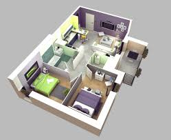 Two Bedroom by 2 Bedroom Apartment House Plans