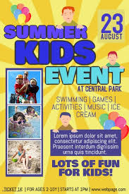 customizable design templates for kids event postermywall