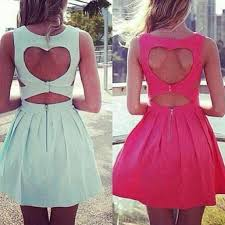 heart cut out back dresses on the hunt